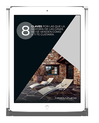 """Vista previa de la guía """"8 claves por las que la mayoría de las casas no se venden como a ti te gustaría"""" en un ipad"""